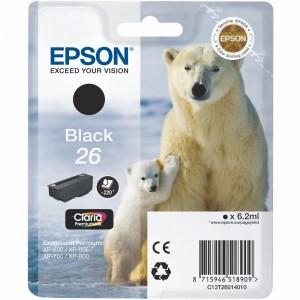 Cartouche d'encre Noir Original Epson C13T26014012 (T26)