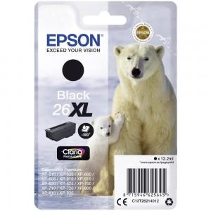 Cartouche d'encre Noir Original Epson T26XL Ours polaire