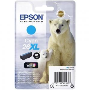 Cartouche d'encre Cyan Original Epson C13T26344012 (26XL)