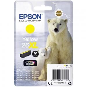 Cartouche d'encre Jaune Original Epson T26XL Ours polaire