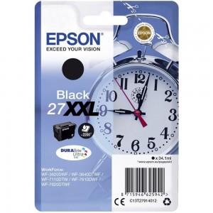 Cartouche d'encre Noir Original Epson C13T27914012 (27XXL)