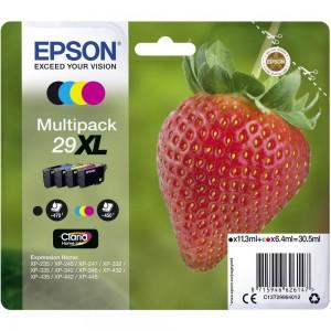 Pack de 4 cartouches d'encre (1 Noire. 1 Cyan. 1 Magenta. 1 Jaune ) Original Epson C13T29964012 (29XL)