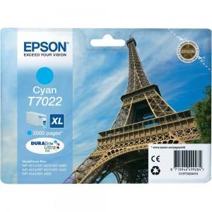 Cartouche d'encre cyan originale Epson C13T70224010 (T7022 XL)