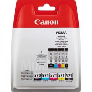 Pack de 5 cartouches d'encre 2BK+C+M+Y  Original Canon PGI-570/CLI-571