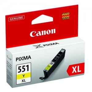 Cartouche d'encre Jaune Original Canon 6446B001 (CLI-551Y XL)