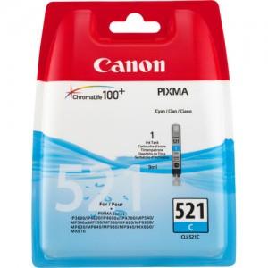 Cartouche d'encre Cyan Original Canon CLI-521C (2934B001)