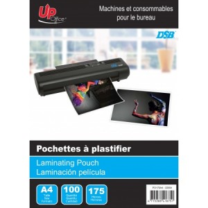 100 Pochettes A4 175mm pour Plastifieuse