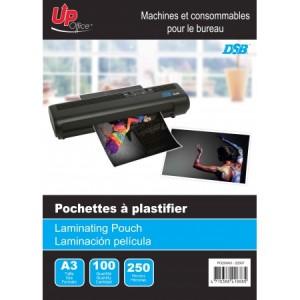 100 Pochettes A3 250mm pour Plastifieuse