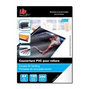 100 Couvertures Transparentes PVC A4 200mm