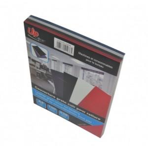 Pochette grain cuir Pack Blanc Rouge Bleu Noir - 100 pages
