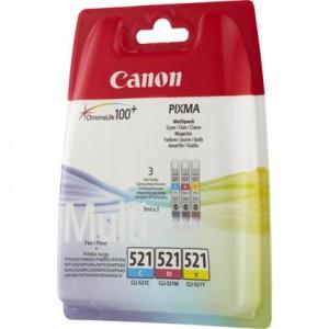 Pack de 3 cartouches d'encre couleur Original Canon CLI-521