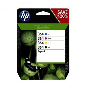 Pack de 4 cartouches d'encre (1 noire, 1 cyan, 1 magenta, 1 jaune) Original HP N9J73AE (HP 364)