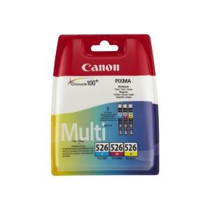 Pack de 3 cartouches d'encre (1 Cyan. 1 Magenta. 1 Jaune ) Canon 4541B009 (CLI-526)