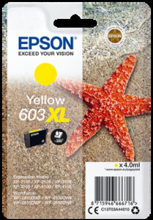 Cartouches d'encre Yellow Original Epson 603XL (C13T03U64010)