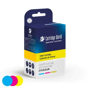 Cartouche d'encre 3 couleurs Cartridge World compatible HP F6U67AE (HP 302XL)