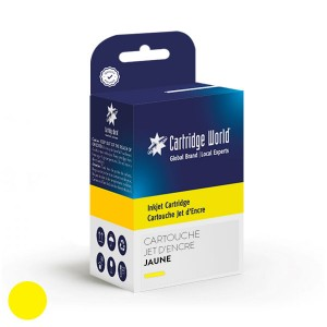 Cartouche d'encre Jaune Cartridge World compatible Brother LC121/ LC123/ LC125