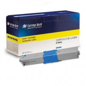 Cartouche de toner Cyan Cartridge World compatible Oki 46508711