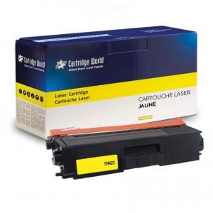 Cartouche de toner Jaune Cartridge World compatible Brother TN-421 / TN-423 / TN-426