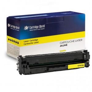 Cartouche de toner Jaune Cartridge World compatible HP CF412A