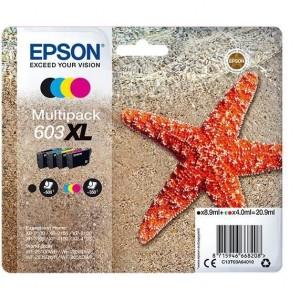 Pack de 4 cartouches d'encre (Noire,Cyan,Magenta,Jaune) Original Epson 603XL (C13T03U64010)