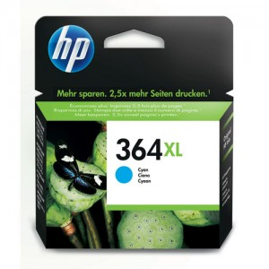 Cartouche d'encre cyan originale HP CB323EE (364XL)