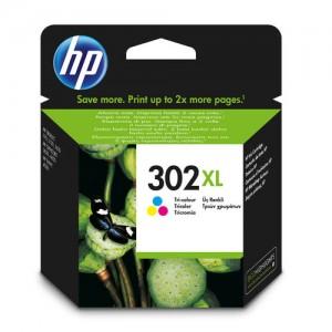 Cartouche d'encre 3 couleurs originale HP F6U67AE (302XL)
