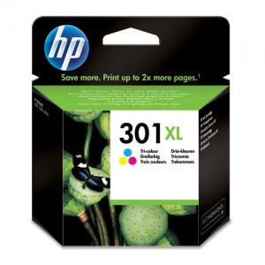 Cartouche d'encre 3 couleurs Original HP CH564EE (HP 301XL)