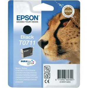 Cartouche d'encre Noir Original Epson C13T07114012 (T0711)