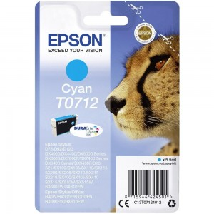 Cartouche d'encre Cyan Original Epson C13T07124012 (T0712)