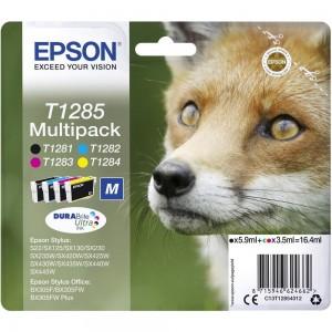 Pack de 4 cartouches d'encre  (1 Noire. 1 Cyan. 1 Magenta. 1 Jaune ) Original Epson C13T12854012 (T1285)