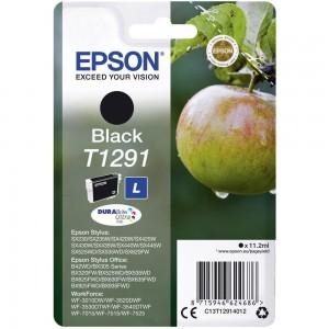 Cartouche d'encre Noir Original Epson T1291 Pomme