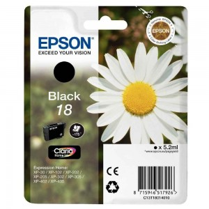 Cartouche d'encre Noir Original Epson C13T18014012 (T1801)