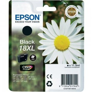 Cartouche d'encre Noir Original Epson T18XL