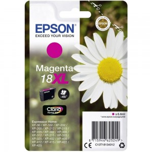 Cartouche d'encre Magenta Original Epson T18XL