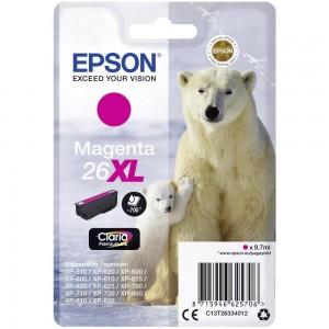 Cartouche d'encre Magenta Original Epson C13T26334012 (26XL)