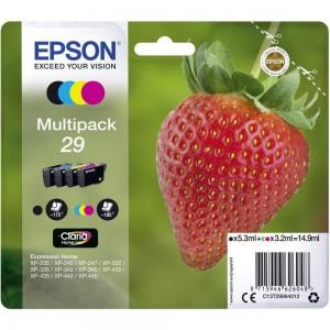 Pack de 4 cartouches d'encre (1 Noire. 1 Cyan. 1 Magenta. 1 Jaune ) Original Epson C13T29864012 (T29)
