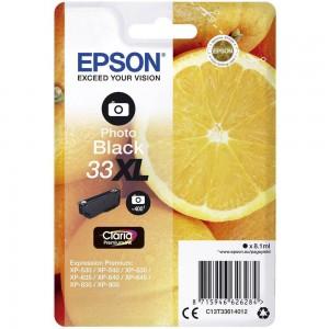 Cartouche d'encre Photo Noir Original Epson T33XL Oranges