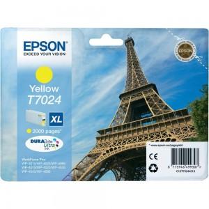 Cartouche d'encre jaune originale Epson C13T70244010 (T7024 XL)